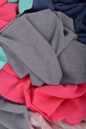Background of colorful pieces of fabric Zdjęcie Seryjne