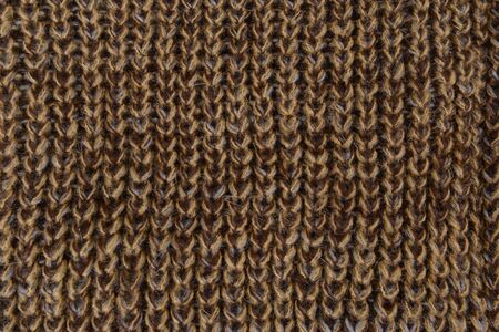 Brown knitted textured fragment knitted
