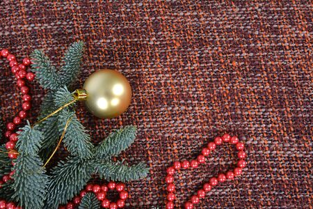 Christmas ball on the branches fir.