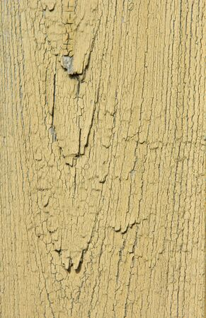 The texture of the old cracked yellow and gray board