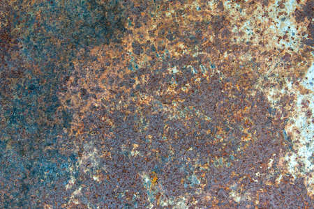 Old rusty sheet of iron background. Steampunk style is a template for design.