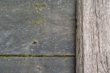 Background of two old boards. The wooden texture of natural aging.