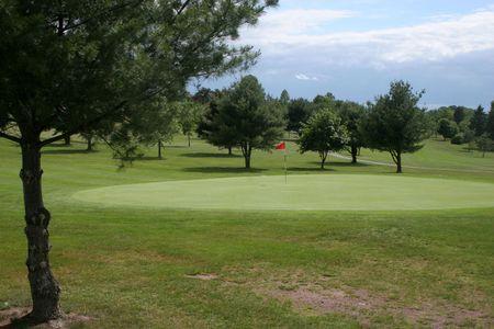フラグとグリーン ゴルフ