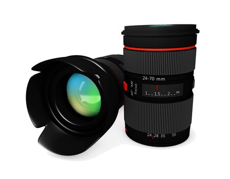 no image: Camera Lens on a white background