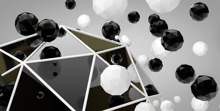 hardship: The 3d abstract balls on a grey background