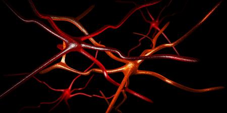 3d Illustration of Computer artwork of nerve cells