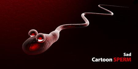 cartoon sperm: 3d Illustration of medically accurate cartoon illustration of human sperms and egg
