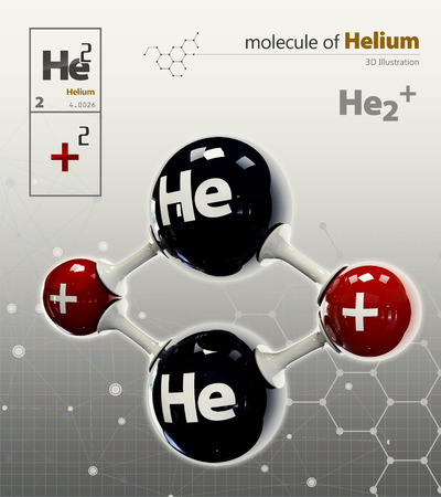 helium: 3d Illustration of Helium  isolated grey background