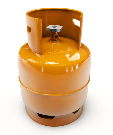 propane: 3d Illustration of Propane gas cylinder on a white background