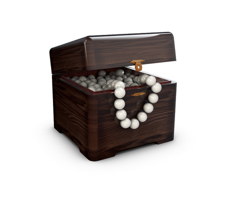 jewerly: 3d Illustration of Opened present box for jewerly on white background