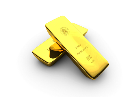 3d Illustration of Gold bars concept for biussness isolated background