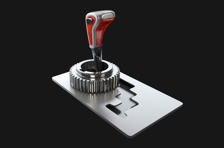 3d illustration of automatic gearbox selector
