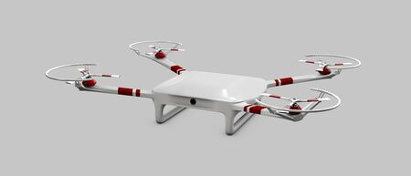 despatch: 3d illustration of drone isolated gray background Stock Photo