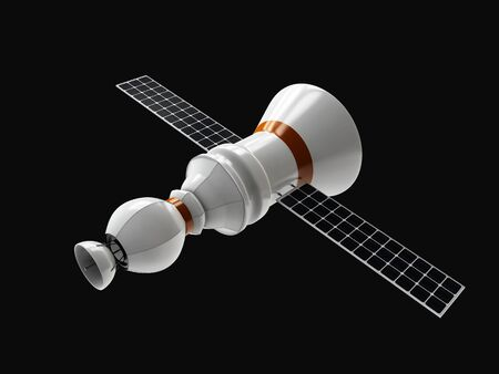 world receiver: 3d Illustration of Satellite communications