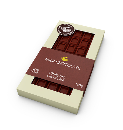 3d Illustration of Milk Chocolate bar Design Templates Isolated On White Background.