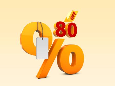 80 Off Special offer sale 3d illustration, Discount offer price symbol