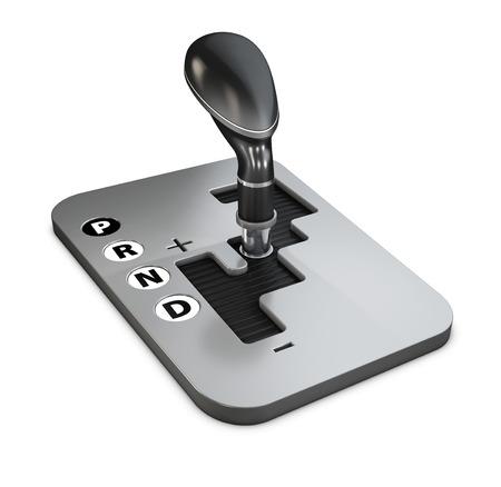 Vehicle gear stick: automatic transmission, 3d Illustration