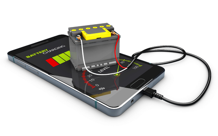 3d Illustration of Power Bank Accumulator Battery Phone Charger Stock Photo