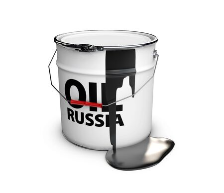 oil drum: barrel of russian oil, 3d illustration isolated white