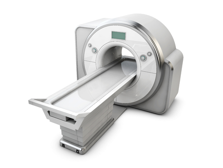 3d Illustration of Magnetic Resonance Imaging Machine Isolated on White Background. Medical and Science Equipment.