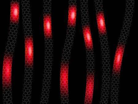 3d Illustaration of Abstract red nano tube structure Stock Photo