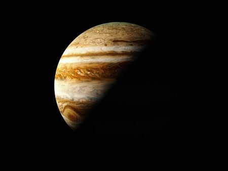 Jupiter - High resolution 3D Rendering images presents planets of the solar system. 写真素材