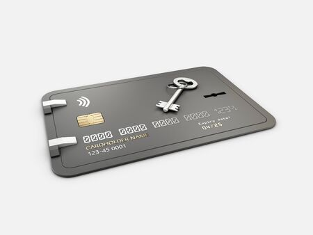 3d Rendering of Credit Card Protection, clipping path included. Reklamní fotografie