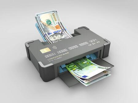 3d Rendering of online changing money