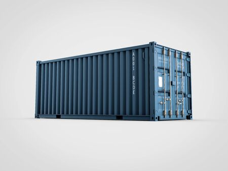 3d Illustration of cargo container or shipping container for logistics and transportation Stock Photo