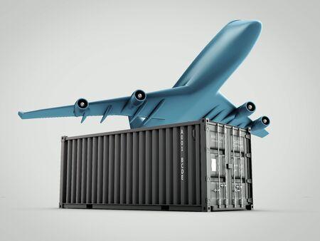 Air cargo concept 3d illustration Stock Photo