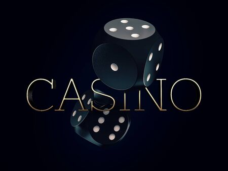 Two dices casino gambling template concept Zdjęcie Seryjne