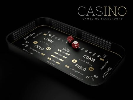 3d Rendering of craps table layout