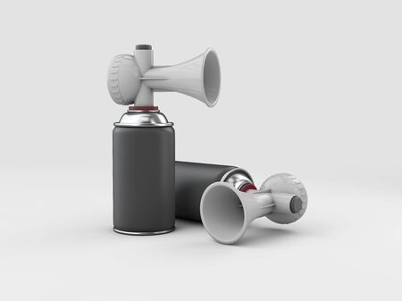 3d Rendering of Sport air horns