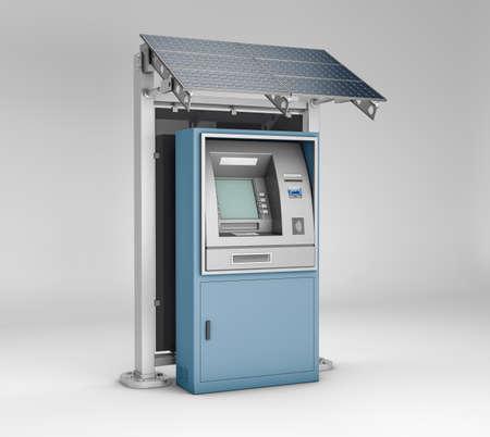 3d rendering of ATM Bank Cash Machine