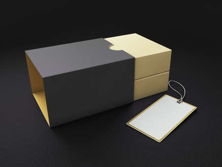 3d Rendering of Product Cardboard Package Box. Stock Photo - 155875312