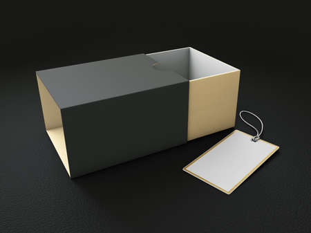 3d Rendering of Product Cardboard Package Box. Stock Photo