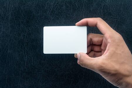 Hand holding card with empty space  Stock Photo - 15351836