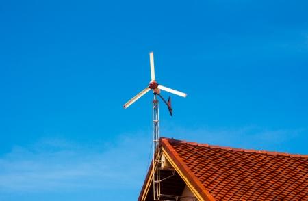 turbina: El cambio de la energ�a e�lica en electricidad Foto de archivo