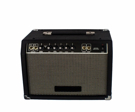Electric guitar amplifier on isolated Stock Photo - 15451363