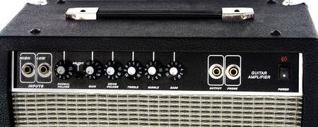 Control panel Electric guitar amplifier on isolated Stock Photo - 15451367
