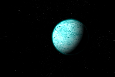 jupiter light: Painted blue planet  Stock Photo