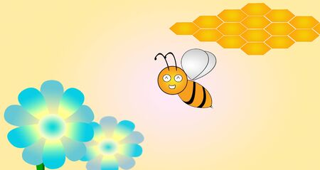 Little cartoon bees to life  Stock Photo - 15915170