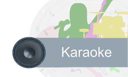 Karaoke painted background  photo