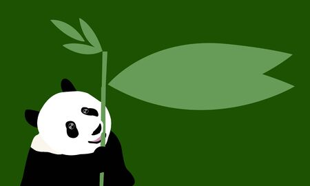 panda speech bubble Stock Photo - 16164320