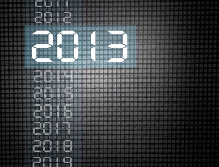 neue Jahr 2013, auf einem dunklen Hintergrund