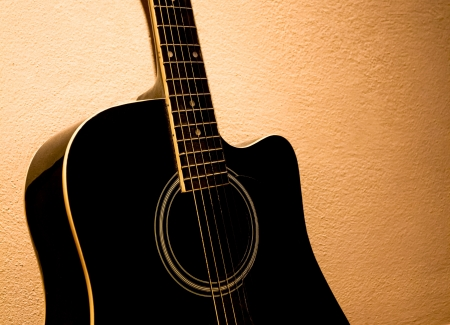 old acoustic guitar photo