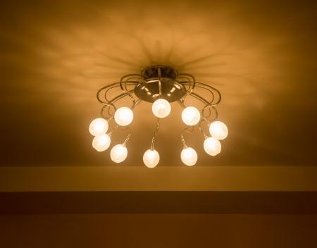 home lighting: Lighting in the home  Stock Photo