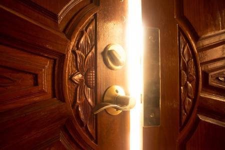 door open: open door light Stock Photo
