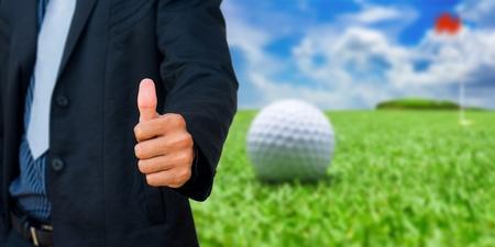 businessman golf
