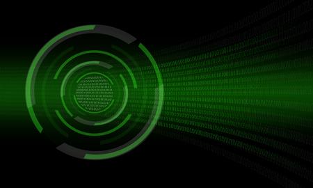 green abstract binary digit  photo